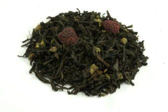 Черный чай с малиной