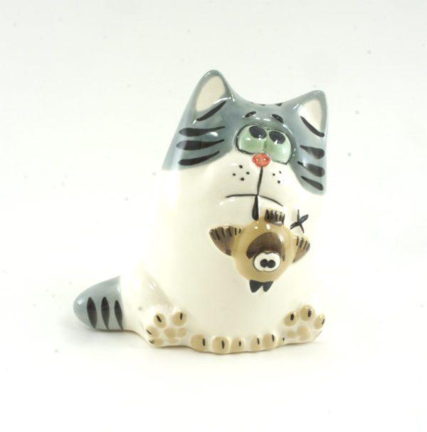 статуэтка-кот-птицелов