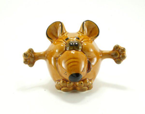 статуэтка-мышь-обнимашка-рыжая