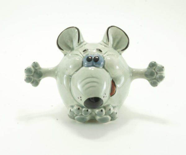 статуэтка-мышь-обнимашка-серая